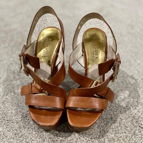 Criss Cross Platform Sandals